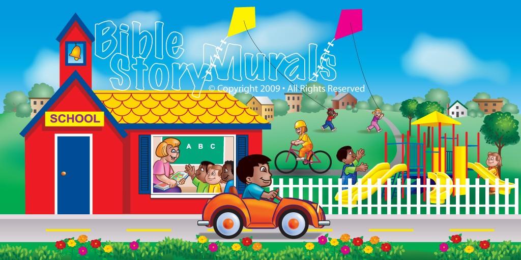 children s ministry murals bible story murals