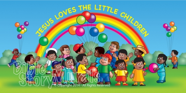 Childrens Ministry Wall Murals For Churches, Preschools